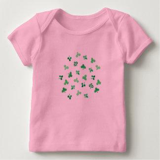 T-shirt de recouvrement de bébé de feuille de