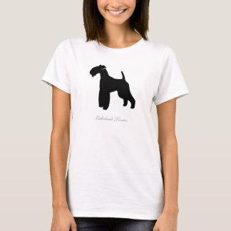 T-shirt de région des lacs Terrier (silhouette