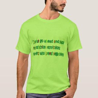 T-shirt de reproduction de négativité