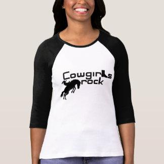 T-shirt de roche de cow-girls