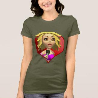 T-shirt de Rockstar de chanteur
