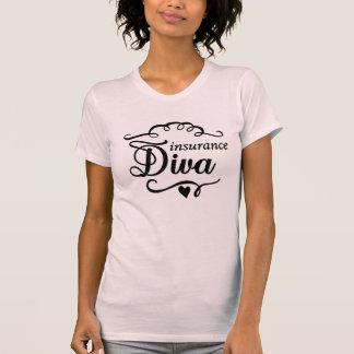 T-shirt de rose de diva d'assurance
