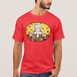 T-shirt de rouge de Kilroy de chef