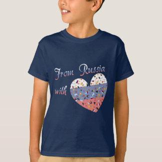 T-shirt De Russie avec le texte d'amour et le coeur russe