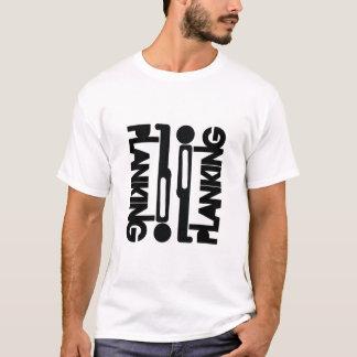 T-shirt de silhouette de bloc de Planking