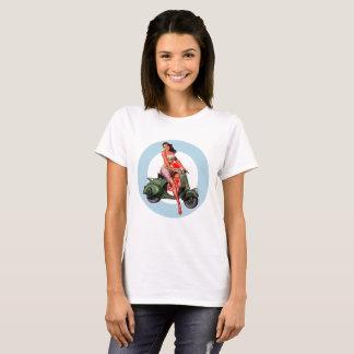 T-shirt de skinhead de mod de fille de scooter de