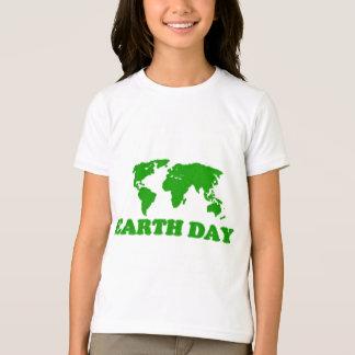 T-shirt de sonnerie de filles de carte d'herbe de