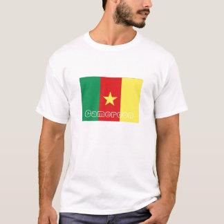 T-shirt de souvenir de drapeau du Cameroun
