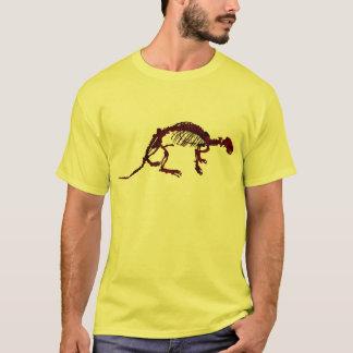 T-shirt de squelette de loutre de rivière de Brown