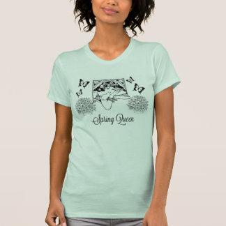 T-shirt de style de la Reine de ressort rétro