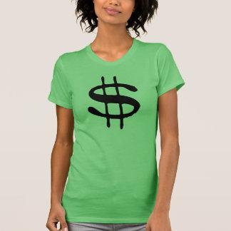 T-shirt de symbole dollar d'argent