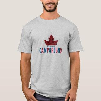 T-shirt de terrain de camping de feuille d'érable