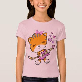 T-shirt de tigre de guitare de rock