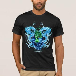T-shirt de tigre et de crâne de dragon
