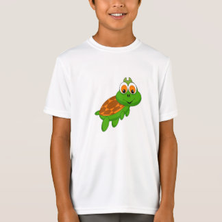 T-shirt de tortue d'enfants