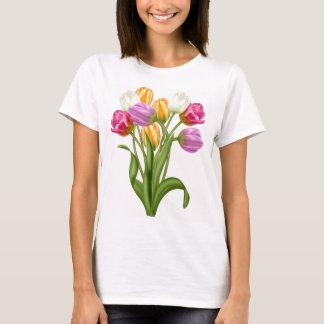 T-shirt de tulipe pour des fleurs de ressort de