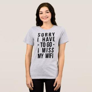 T-shirt de Tumblr désolé je dois aller Mlle My