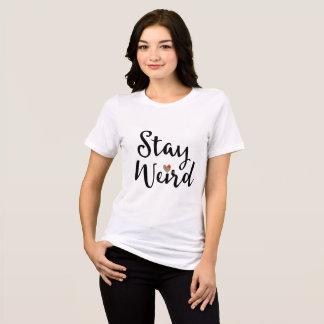T-shirt De typographie lunatique étrange de séjour avec le
