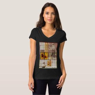 T-shirt de V-Cou de Bella Jersey des femmes de