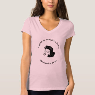 T-shirt de V-Cou de Bella Jersey des femmes drôles