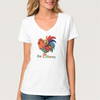 T-shirt de V-Cou de Hanes des femmes de De Colores