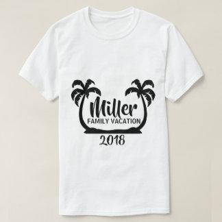 T-shirt de vacances de famille de palmiers