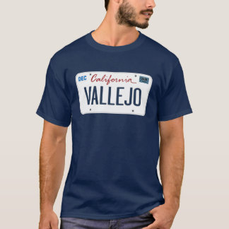 T-shirt de Vallejo la Californie de plaque