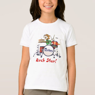 """T-shirt de """"vedette du rock"""" de filles"""