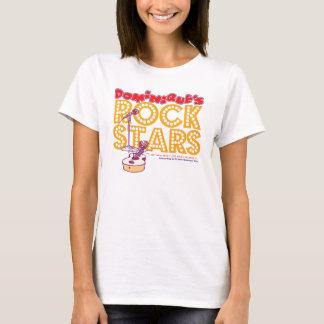 T-shirt de vedettes du rock de Dominique