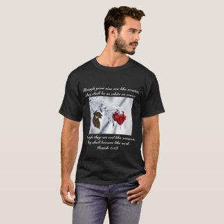 T-shirt de vers de bible de 1h18 d'Isaïe