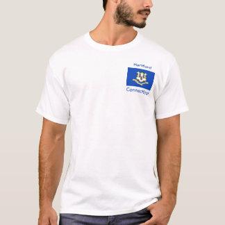 T-shirt de ville de carte de drapeau du