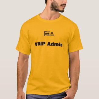 T-shirt de VOIP Admin de sysadmin d'ordinateur