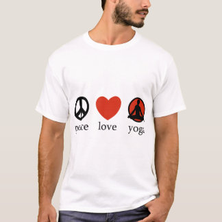T-shirt de yoga d'amour de paix
