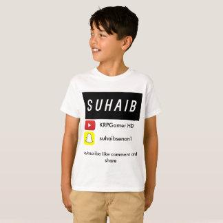 T-shirt de youtube de Suhaib