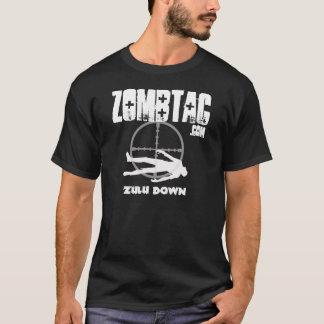T-shirt De Zombtac de zoulou obscurité vers le bas