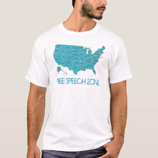 T-shirt de zone de liberté de parole