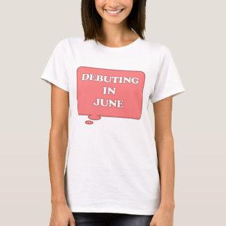 T-shirt DEBUTING en juin ENTRETIEN ROSE DE MATERNITÉ
