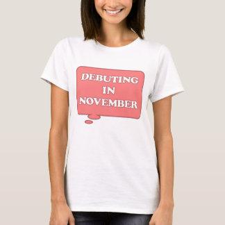 T-shirt DEBUTING en novembre ENTRETIEN ROSE DE MATERNITÉ