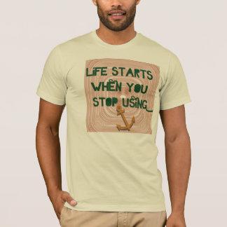 T-shirt Débuts de la vie - récupération sobre