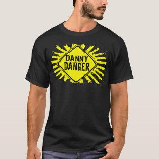 T-shirt d'éclaboussure de jaune de danger de Danny