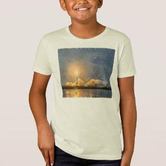 T-Shirt Décollez de la fusée flamboyante