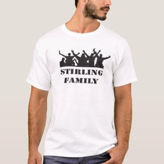 T-shirt décontracté de famille de Stirling rétro