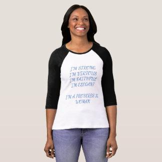T-shirt d'écriture sainte de femme des proverbes