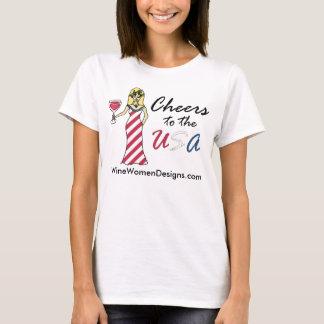 """T-shirt Déesse patriote de vin """"acclamations promo vers"""