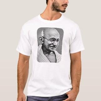 T-shirt d'effet de matrice de points de Gandhi