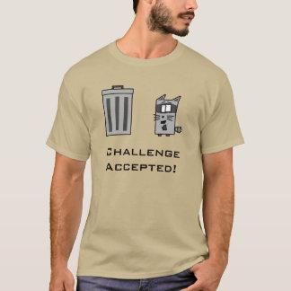 T-shirt Défi admis ! Chemise de poubelle de raton laveur