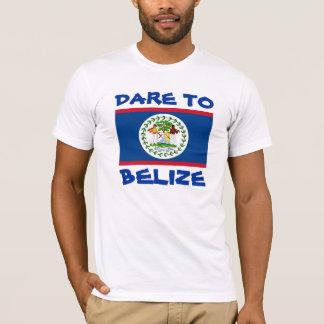T-shirt Défi de drapeau de Belize vers Belize