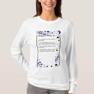T-shirt Définition d'anniversaire d'astrologie de Verseau
