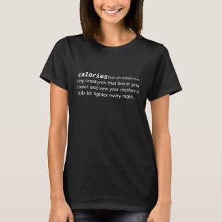 T-shirt définition de dictionnaire de calories