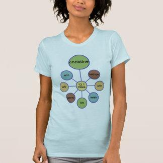 T-shirt demi de chemise Christine de marathon